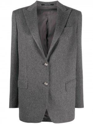 Кашемировый пиджак Tagliatore. Цвет: серый