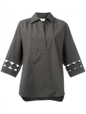 Рубашка с перфорированным дизайном Akris Punto. Цвет: зелёный