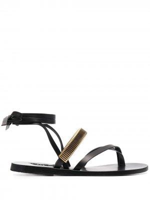 Сандалии Lafitis с ремешками Ancient Greek Sandals. Цвет: черный