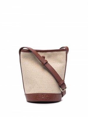 Маленькая сумка-ведро Helene A.P.C.. Цвет: нейтральные цвета