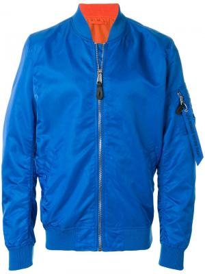 Куртка-бомбер Alpha Industries. Цвет: синий