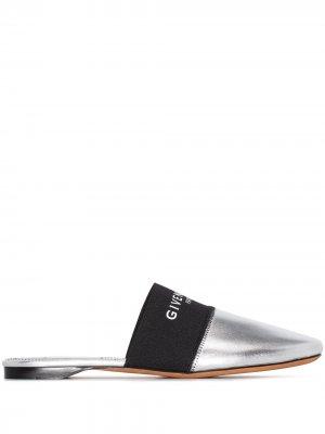 Мюли Bedford с эффектом металлик и логотипом Givenchy. Цвет: серебристый