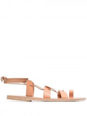 Сандалии Alcyone с ремешками Ancient Greek Sandals. Цвет: нейтральные цвета
