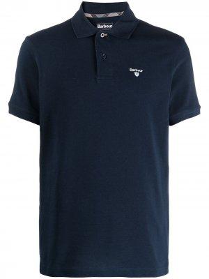 Рубашка поло с вышитым логотипом Barbour. Цвет: синий