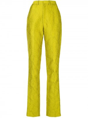 Жаккардовые брюки со змеиным принтом LAPOINTE. Цвет: желтый