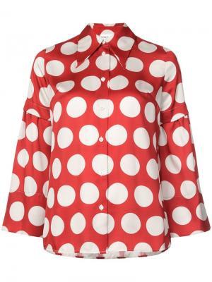 Блузка с длинными рукавами Robert Rodriguez. Цвет: красный