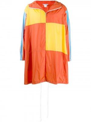 Дождевик в стиле колор-блок Comme Des Garçons Shirt Boys. Цвет: оранжевый