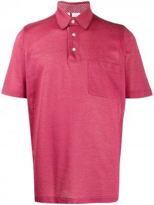 Рубашка поло с короткими рукавами Brioni. Цвет: красный