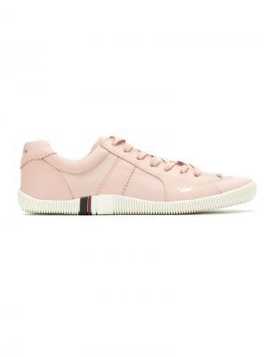 Panelled leather sneakers Osklen. Цвет: розовый