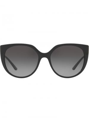 Затемненные солнцезащитные очки в стиле оверсайз Dolce & Gabbana Eyewear. Цвет: черный