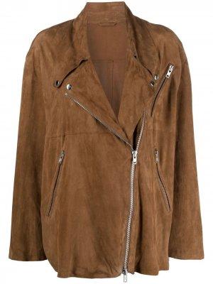 Байкерская куртка с поясом S.W.O.R.D 6.6.44. Цвет: коричневый
