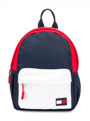 Рюкзак в стиле колор-блок Tommy Hilfiger Junior. Цвет: синий
