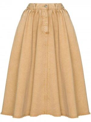 Расклешенная джинсовая юбка Golden Goose. Цвет: 55367 light biscuit