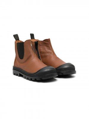 Ботинки на молнии сбоку Pèpè. Цвет: коричневый