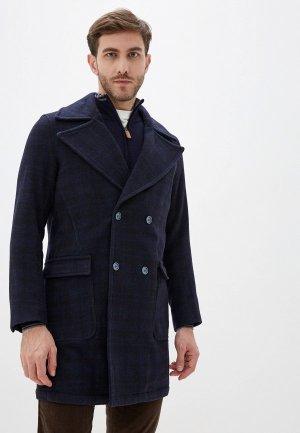 Пальто Primo Emporio. Цвет: синий