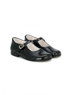 Балетки с ремешками Andanines Shoes. Цвет: черный