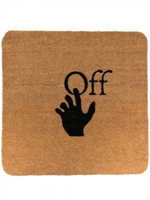 Коврик для входной двери с логотипом Off-White. Цвет: коричневый