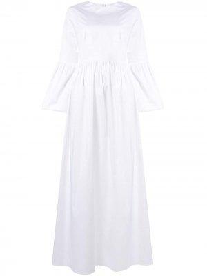 Платье макси с расклешенными рукавами The Row. Цвет: белый