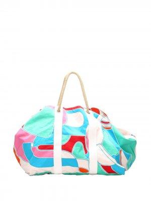 Пляжная сумка Bateau Jeux dAnimaux pre-owned Hermès. Цвет: синий
