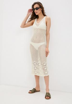 Платье пляжное Vero Moda. Цвет: бежевый
