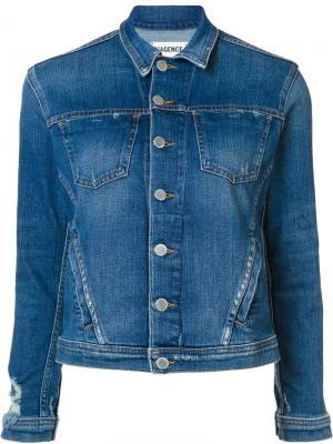 Джинсовая куртка на пуговицах L'agence. Цвет: синий