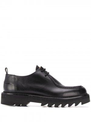 Туфли дерби на рифленой подошве AMI Paris. Цвет: черный
