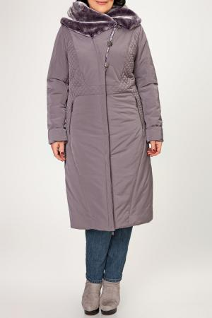 Пальто D`imma. Цвет: фиолетовый