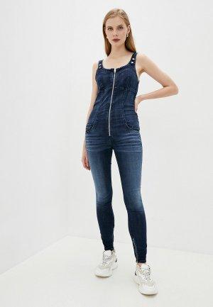 Комбинезон джинсовый Diesel. Цвет: синий