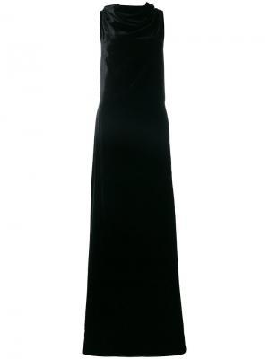 Длинное платье с открытый спиной Gareth Pugh. Цвет: чёрный