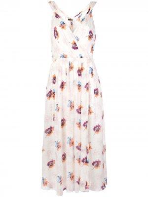 Платье миди с запахом Jason Wu. Цвет: белый