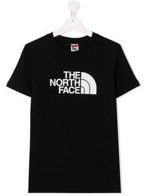 Футболка с логотипом The North Face Kids. Цвет: черный