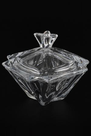 Конфетница с крышкой 15 см Crystalite Bohemia. Цвет: прозрачный