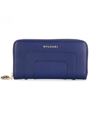 Serpentini Forever zipped wallet Bulgari. Цвет: синий