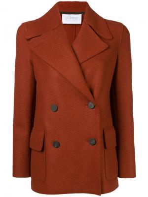 Двубортный пиджак Harris Wharf London. Цвет: коричневый
