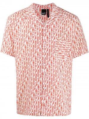 Рубашка Raoul с абстрактным принтом Blood Brother. Цвет: белый