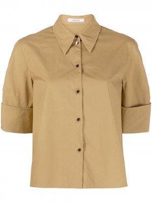 Рубашка свободного кроя с короткими рукавами Dorothee Schumacher. Цвет: коричневый