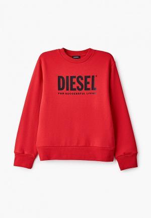 Свитшот Diesel. Цвет: красный