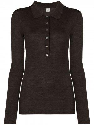 Рубашка поло Millana Totême. Цвет: коричневый