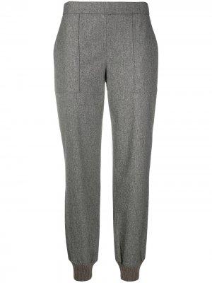 Прямые брюки с завышенной талией Fabiana Filippi. Цвет: серый