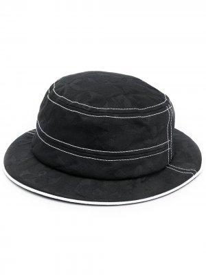 Шляпа с контрастной отделкой 10 CORSO COMO. Цвет: черный