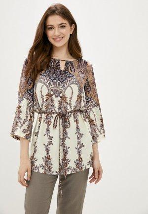 Блуза Finn Flare. Цвет: коричневый