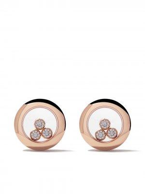 18kt rose gold Happy Diamonds Icons ear pins Chopard. Цвет: розовый