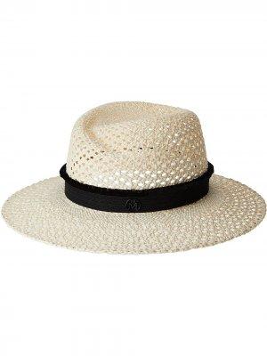 Соломенная шляпа Virginie Maison Michel. Цвет: нейтральные цвета