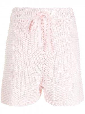 Трикотажные шорты SJYP. Цвет: розовый