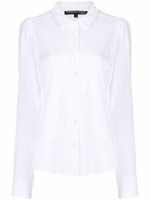 Рубашка Pima на пуговицах Veronica Beard. Цвет: белый