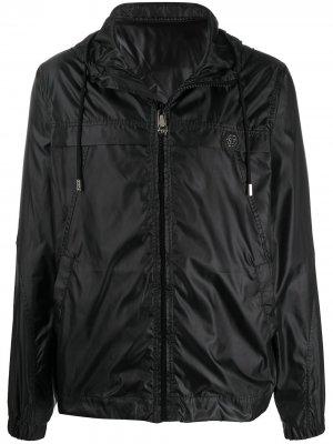 Куртка с капюшоном и логотипом Philipp Plein. Цвет: черный