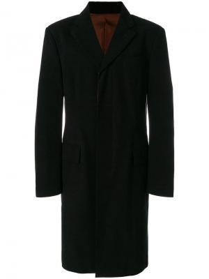 Пальто средней длины с потайной застежкой спереди Jean Paul Gaultier Vintage. Цвет: черный