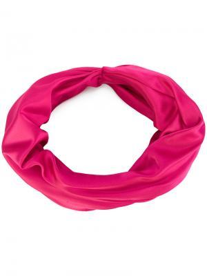 Повязка на голову с перекрученным дизайном Eugenia Kim. Цвет: розовый и фиолетовый