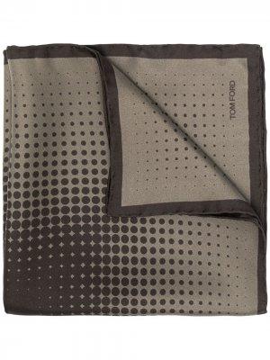 Платок-паше с геометричным принтом TOM FORD. Цвет: зеленый