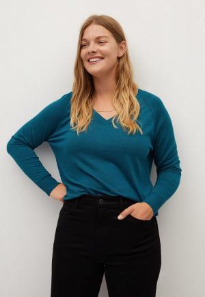 Пуловер Violeta by Mango. Цвет: бирюзовый